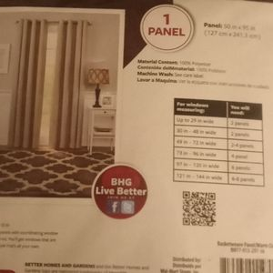 Better Homes And Gardens Accents - Better Home and Garden 95 inch Curtain